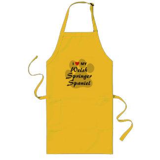 I Love (Heart) My Welsh Springer Spaniel Long Apron