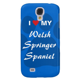I Love (Heart) My Welsh Springer Spaniel Samsung Galaxy S4 Covers