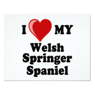 I Love (Heart) My Welsh Springer Spaniel Dog Card