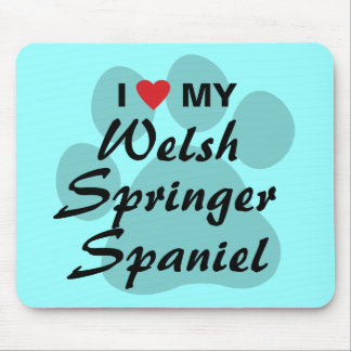 I Love (Heart) My Welsh Springer Spaniel Mouse Pad
