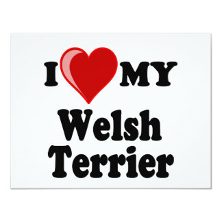 I Love (Heart) My Welsh Terrier Dog Card