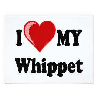I Love (Heart) My Whippet Dog Card