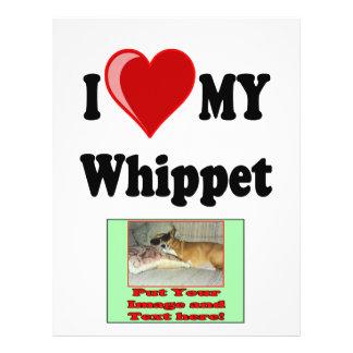 I Love (Heart) My Whippet Dog Flyer
