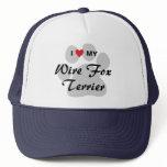 I Love (Heart) My Wire Fox Terrier Trucker Hat