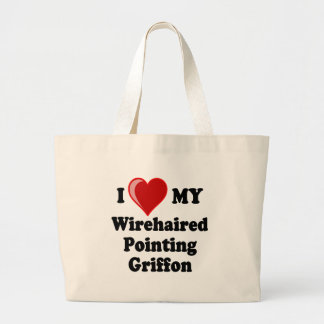 I Love (Heart) My Wirehaired Pointing Griffon Dog Canvas Bag