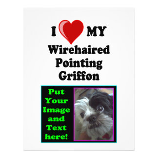 I Love (Heart) My Wirehaired Pointing Griffon Dog Flyer