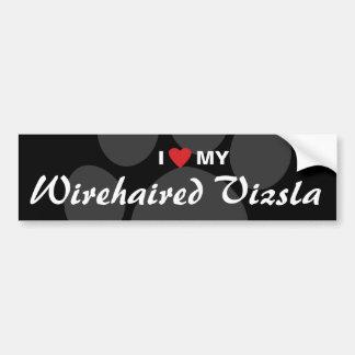 I Love (Heart) My Wirehaired Vizsla Car Bumper Sticker
