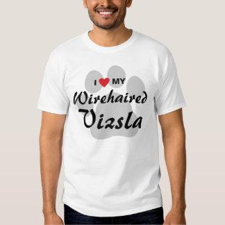 I Love (Heart) My Wirehaired Vizsla Tee Shirts