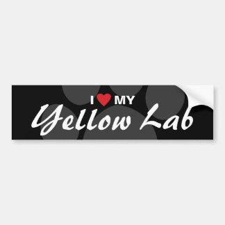 I Love (Heart) My Yellow Lab Car Bumper Sticker