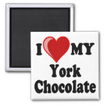 I Love (Heart) My York Chocolate Cat Refrigerator Magnets