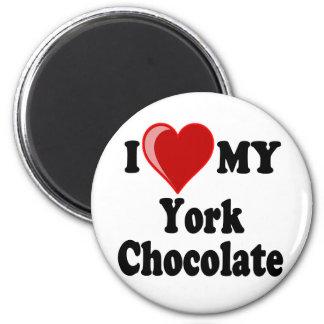 I Love (Heart) My York Chocolate Cat Refrigerator Magnet