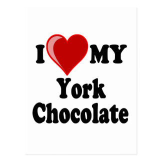 I Love (Heart) My York Chocolate Cat Postcard