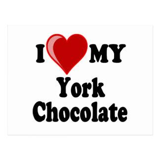 I Love (Heart) My York Chocolate Cat Post Cards