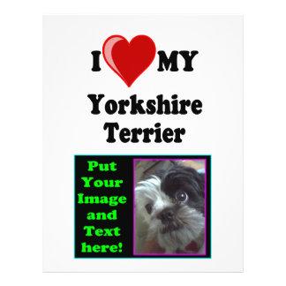 I Love (Heart) My Yorkshire Terrier Dog Flyer