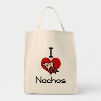 I love-heart nacho tote bag