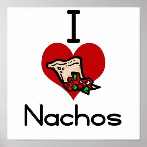 I love-heart nacho poster