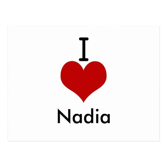 I Love (heart) Nadia Postcard