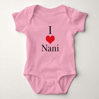 I Love (Heart) Nani Baby Bodysuit