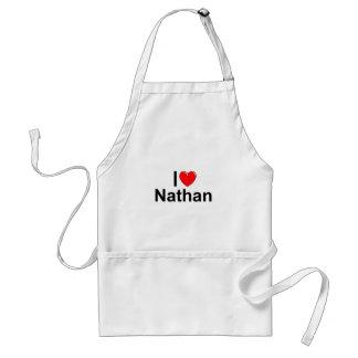 I Love (Heart) Nathan Adult Apron