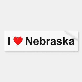 I Love Heart Nebraska Bumper Sticker