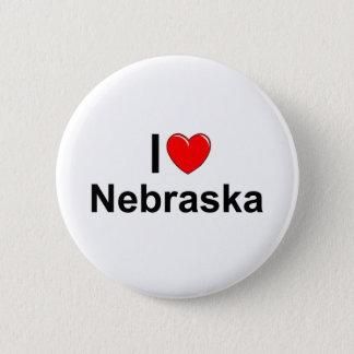 I Love (Heart) Nebraska Button