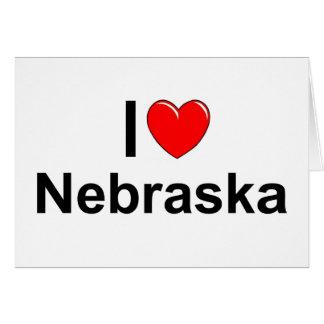I Love Heart Nebraska Greeting Card