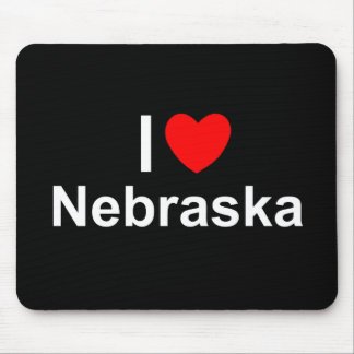 I Love (Heart) Nebraska Mousepad