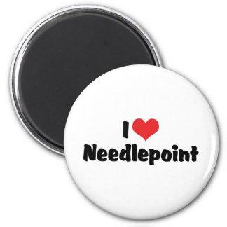 I Love Heart Needlepoint Magnet