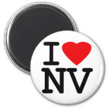 I Love Heart Nevada 2 Inch Round Magnet