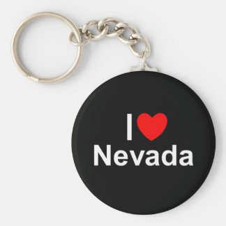 I Love (Heart) Nevada Basic Round Button Keychain