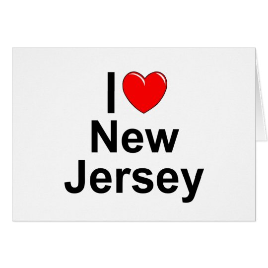 I Love (Heart) New Jersey Card