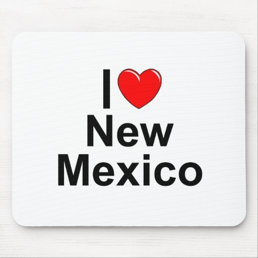 I Love (Heart) New Mexico Mouse Pads