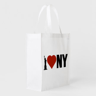 I Love Heart New York Grocery Bag