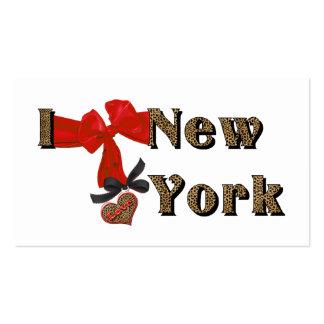 I LOVE (heart) New York Leopard Business Card