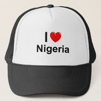 I Love Heart Nigeria Trucker Hat