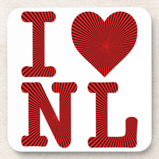 I LOVE HEART NL NEWFOUNDLAND AND LABRADOR DRINK COASTER