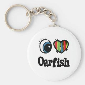 I Love (Heart) Oarfish Basic Round Button Keychain