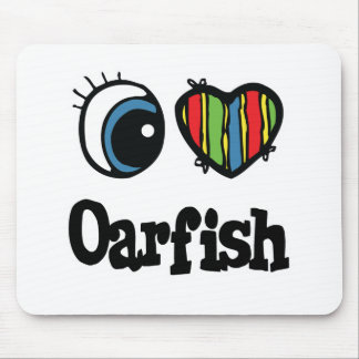 I Love (Heart) Oarfish Mouse Pad