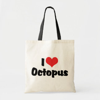 I Love Heart Octopus Tote Bag