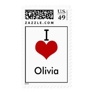 I Love (heart) Olivia Stamps