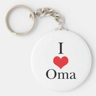I Love (Heart) Oma Keychains