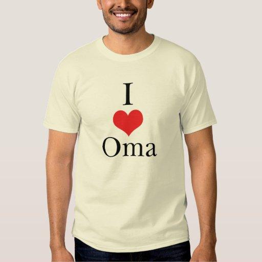 I Love (Heart) Oma Shirt