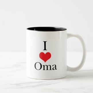 I Love (Heart) Oma Two-Tone Coffee Mug