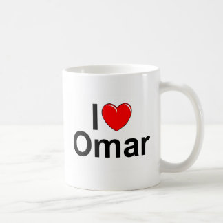 I Love (Heart) Omar Coffee Mug