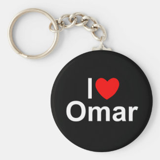 I Love (Heart) Omar Keychain