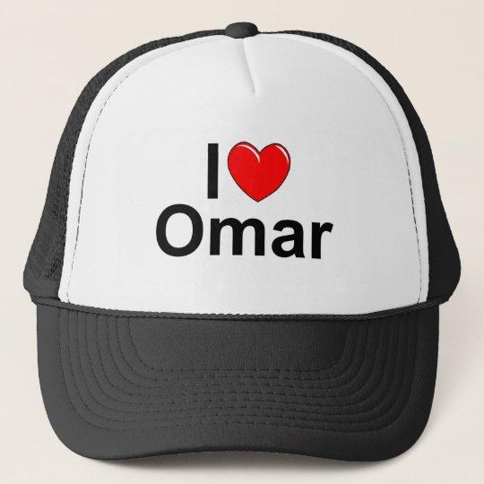 I Love (Heart) Omar Trucker Hat