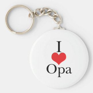 I Love (Heart) Opa Keychain