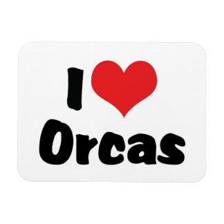 I Love Heart Orcas - Killer Whale Lover Magnet