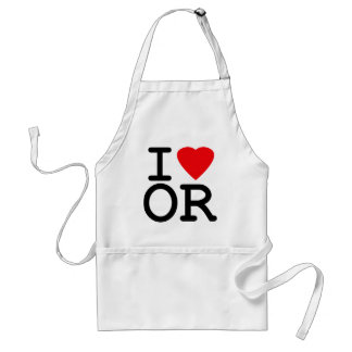 I Love Heart Oregon Adult Apron