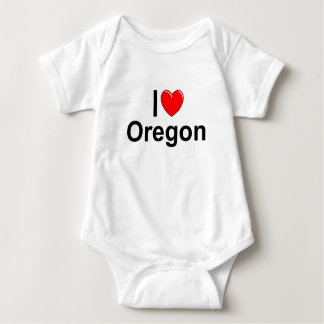 I Love (Heart) Oregon Baby Bodysuit